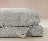 Natural Comfort Matelasse Blanket Coverlet, Foliage Pattern, Queen, Light Grey