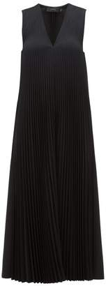 Joseph Enid Pleats Wool-blend Midi Dress - Womens - Black