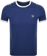 Fred Perry Taped Ringer T Shirt Blue