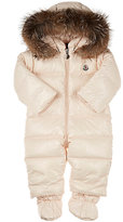 Moncler Fur-Trimmed Quilted Snowsuit-PINK