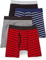 Arizona 4-pk. Striped Boxer Briefs - Boys & Husky 4-20