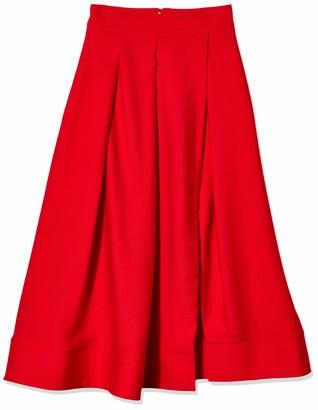 C/Meo Women's High Waisted Still Feel Full Midi Skirt