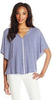Ella Moss Women's Dario Jersey Striped Tee Shirt