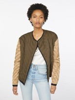 Frame Quilted Colorblocked Jacket