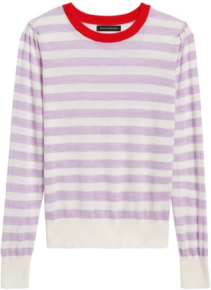Banana Republic Washable Merino Puff-Sleeve Sweater