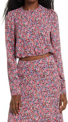 AFRM Reca Floral Tie Back Top