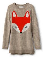 Lands' End Girls Intarsia Sweater Legging Top-Fox