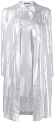 ANAÏS JOURDEN metallic-effect slip coat