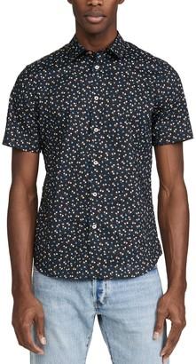 Paul Smith Short Sleeve Floral Button Down Shirt