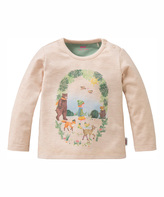 Oilily Beige Melee Tip Tee - Infant Toddler & Girls