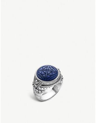 Thomas Sabo Rebel at Heart engraved skulls silver signal ring