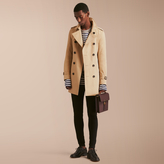 Burberry The Sandringham - Mid-length Heritage Trench Coat , Size: 58sf, Yellow