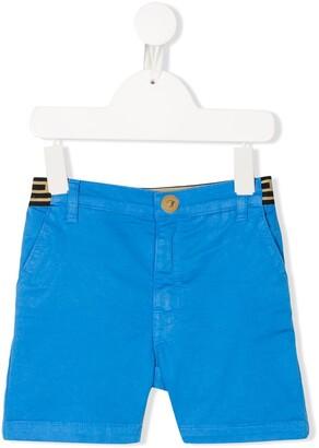 Versace Logo-Waistband Chino Shorts