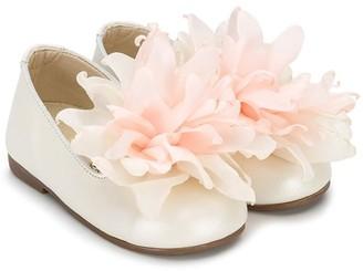 Babywalker Flower Applique Ballerina Shoes