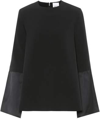 Edit Crepe kimono-sleeve top