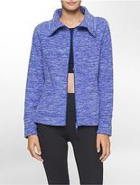Calvin Klein Womens Performance Heathered Polar Fleece Jacket