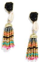 BaubleBar Women's Conch Tassel Drop Earrings