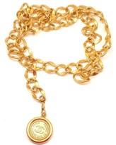 Chanel Vintage CC Disc Logo Belt Necklace