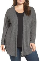 Bobeau Plus Size Women's Ribbed Cardigan