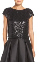 Eliza J Women's Sequin Crop Top