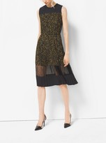 Michael Kors Floraflage Duchesse and Chantilly Lace Dress