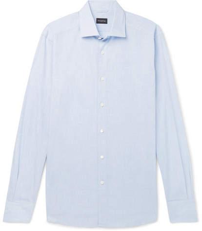 Ermenegildo Zegna Checked Cotton Shirt