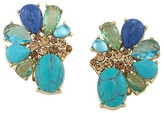 Carolee Stone Cluster Clip-On Earrings — 100% Exclusive