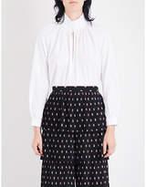 Vilshenko Dinah high-neck cotton shirt