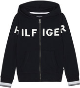 Tommy Hilfiger Logo zipped hoodie 4-16 years