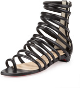 Christian Louboutin Catchetta Napa Gladiator Sandal, Black