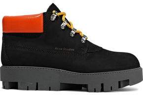 Acne Studios Tinnie Alu Leather-trimmed Suede Ankle Boots