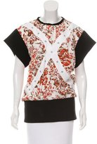 J.W.Anderson Floral Print Short Sleeve Top