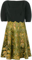 Etro floral print panel flared dress