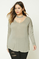 Forever 21 FOREVER 21+ Plus Size Slub Knit Top