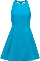 Alice + Olivia Christie cutout cotton-poplin mini dress