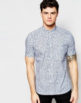 French Connection Short Sleeve Shell print Shirt