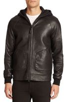 Mackage Grayson Pebbled Leather Jacket