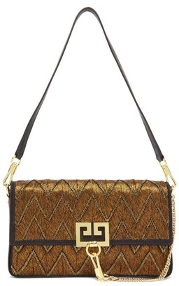 Givenchy Charm Embroidered Shoulder Bag - Womens - Gold Multi