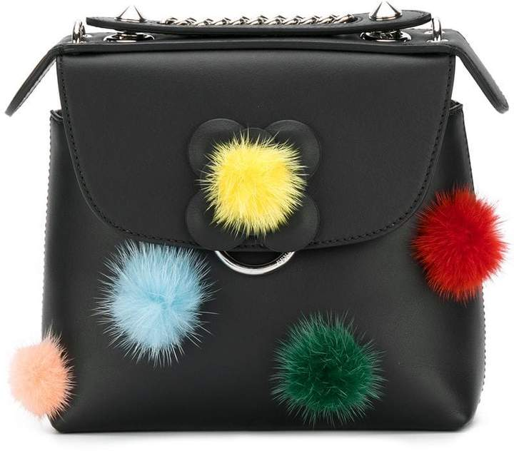 Fendi pom pom Back to School backpack