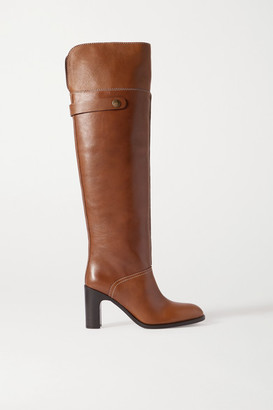 See by Chloe Leather Over-the-knee Boots - Tan
