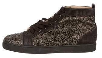 Christian Louboutin Louis Flat Strass Sneakers