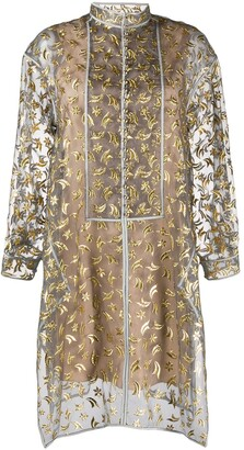 Maison Rabih Kayrouz Embroidered Shirt Dress
