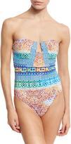 Nanette Lepore Tanzania Tile Seductress One-Piece Swimsuit, Multicolor