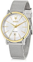 Epoca Maserati White Dial Stainless Steel Men's Watch