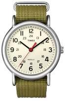 Timex Weekender Slip Thru Nylon Strap Watch - Green T2N651JT
