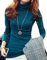 CFD Womens Basic Slim Fit Long Sleeve Turtleneck T-shirt XL