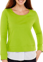 Liz Claiborne Long-Sleeve Layered Sweatshirt
