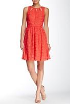 Adrianna Papell 12245720 Sleeveless Split Lace Dress