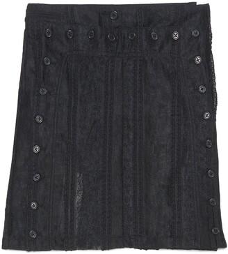 Ann Demeulemeester Buttoned Sheer Mini Skirt