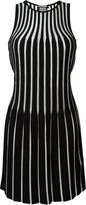 Fausto Puglisi two toned ribbed dress